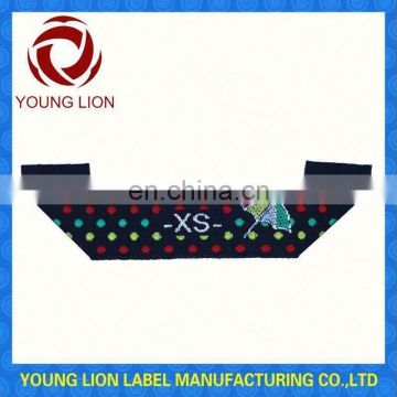 100% cotton washing labels