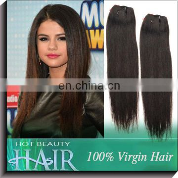 100% Golden Supplier 2013 Straight Virgin Peruvian Yaki Hair