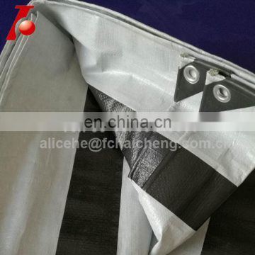 black woven bands fabric tarpaulin cover sheet with bands