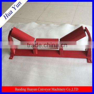 Steel Belt Conveyor Roller Idler / Self-Aligning Idler Frame