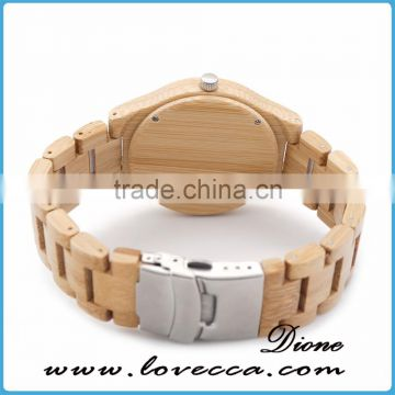 Fashion bangle watch for men waterproof wood watch
