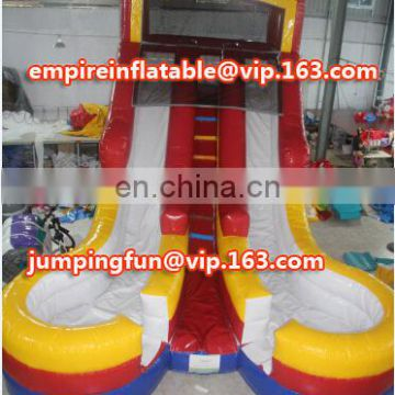 China high quality inflatable water slide dual lane slide ID-SLM080