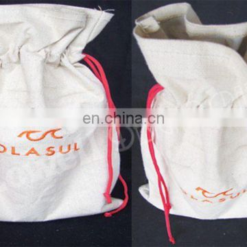 LAMINATED CANVAS DRAWSTRING BAG