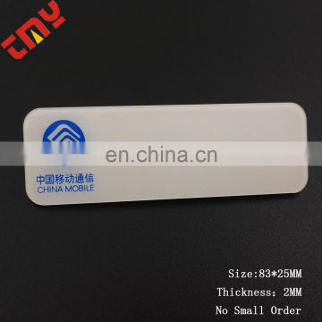 Custom Wholesale Cheap Price Plastic Pvc Badge With Safty Pin