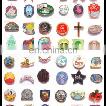 Cheap animation style custom plastic pins round badges