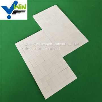 High alumina ceramic mosaic pieces lining sheet in chute