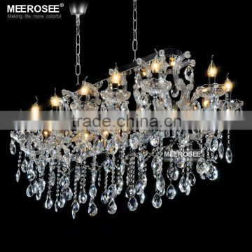 Crystal Chandelier Luxury with Fabric Lampshades, 18 Candle bulbs Cristal Chandelier MD32011