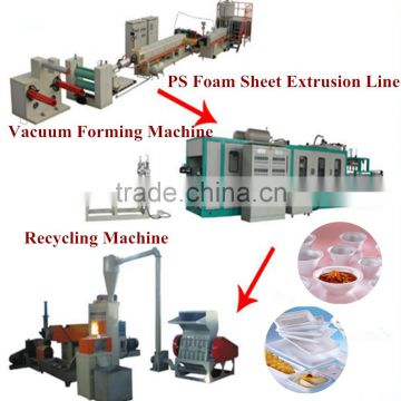 Top sale excellent quality ps foam food box/container making machine