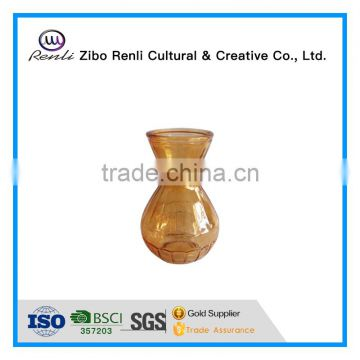 Tea Tined Exquisite Colored Flower Vase Glass for Tea Table Decor