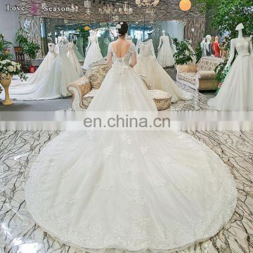 gt904 elegant tassel pearl bridal gown 2017 long sleeves high quality alibaba bridal gowns