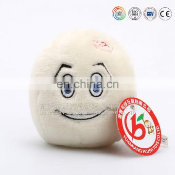White round human head shape cushion mascot soft toy for wholesale