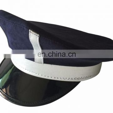 custom kids peak cap for promotion gift with silver leather band