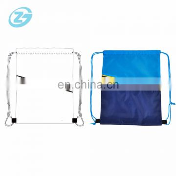 Cosmetic Gym Sport Bag Double-deck Recycled Polyester Drawstring Bag