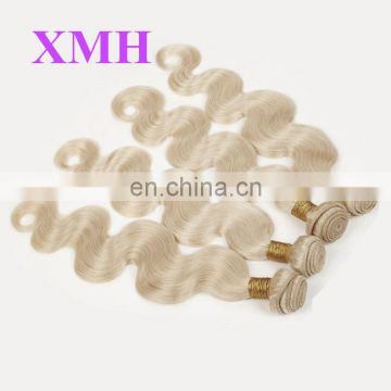 best quality blonde color 613 virgin remy European human hair extension for white people