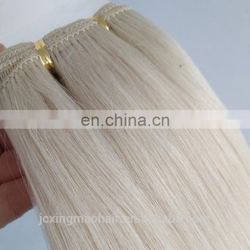 Factory Price Platinum blonde hair weave remy human hair extensions