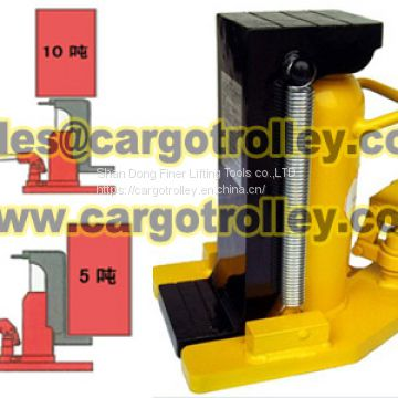Hydraulic toe jack for industrial use