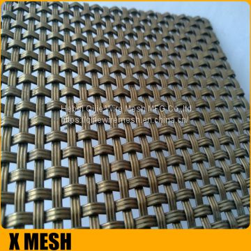 Flat-Wire Decorative Mesh Fandango Antique Brass Plated 24
