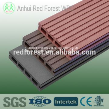 Factory wood plastic composite decking flooring