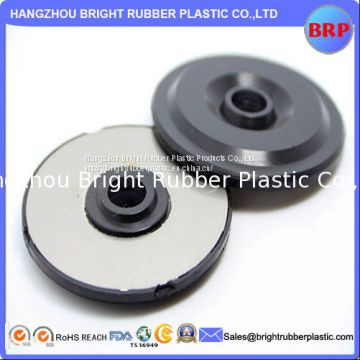 China OEM Black High Quality anti-vibration Rubber Washer Bond to Metal