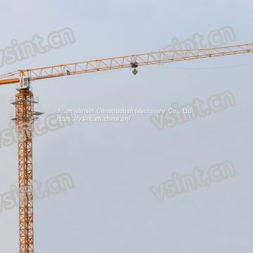10t topless frequency QTZ160 TC6516 construction tower crane with Schneider invertor L68A1split mast section used in Cambodia