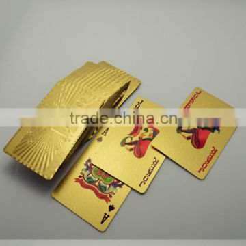Factory Directly Sale Gift Item Gold Foil Poker Cards 100 Euro Plastic Poker with Red Case