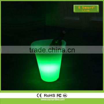 Hot selling waterproof cordless plastic bar,night club,hotel use LED light ice bucket