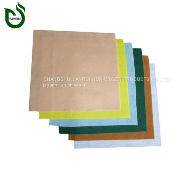 Quality primacy PET colorful perforated non woven fabric