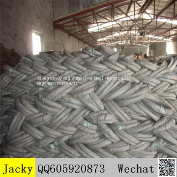 Electric BWG22# galvanized wire in circle shape,0.7mm gauge wire