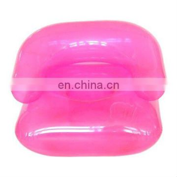 PVC inflatable pink child sofa