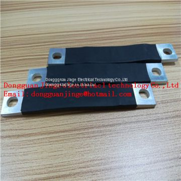 Insulated copper foil soft connector black color
