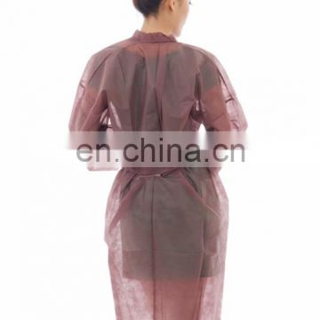 Disposable cheap soft PP nonwoven kimono wholesale