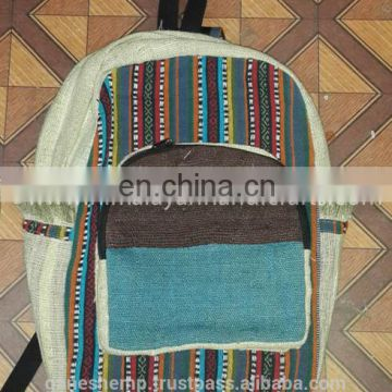 Casual Hemp Backpack HBB 0015