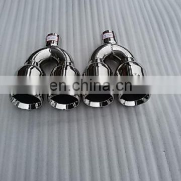 dual outlet exhaust muffler tip for car