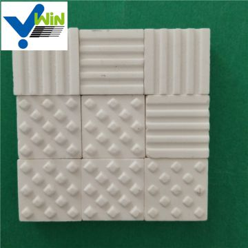 Alumina ceramic square tile as wear resistant ceramic lining