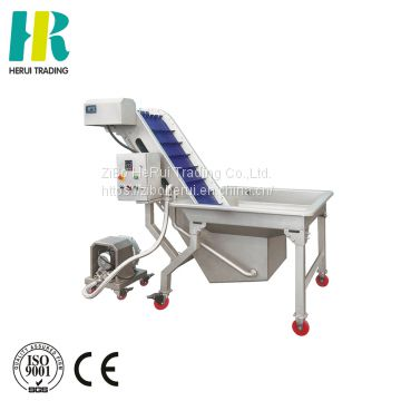 Vegetable elevator cleaning machine vegetable wash line