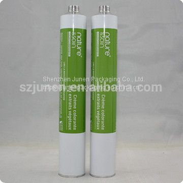 Collapsible Aluminum Packaging Tube For Hair Color Cream