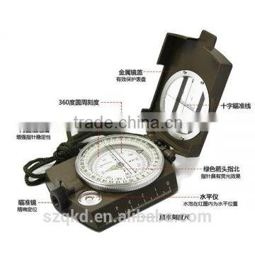 Multi-function American Style Luminous Military Outdoor Mini Compass