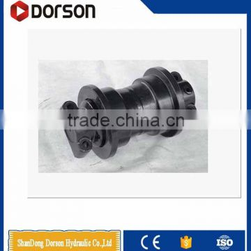 construction machinery parts steel forged track roller/bottom roller for excavator pc200 tracked chassis