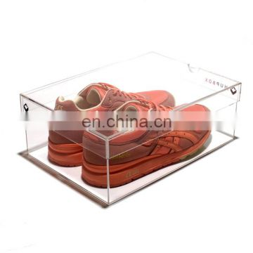 custom pmma plexiglass acrylic shoe display box