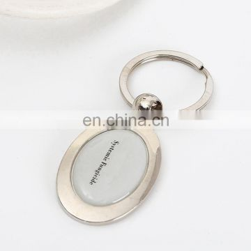 hot sell Epoxy Metal key ring chain keyring for wholesale