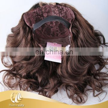 Brown color lace wig, handmade wig in very afordable price