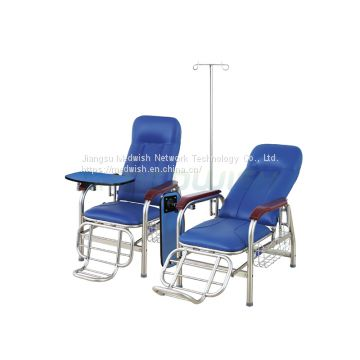 AG-TC001 Hospital Patient Medical Attendant Recliner Adjustable Drawing IV Infusion Chair