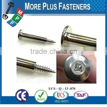 Made In Taiwan Custom Made Special Screws According to Customers Drawing