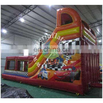 2017 Aier fashionable commercial inflatable water slide decorated with car/inflatable water slide for kids and adult