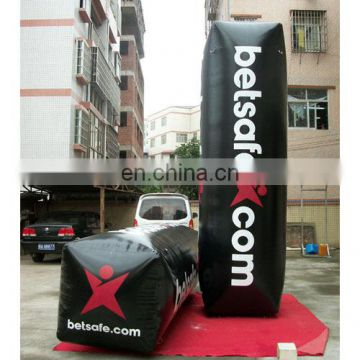 inflatable big black square buoy with customized logo for event advertisement