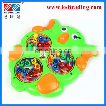 battery operated kids plastic music fishing set
