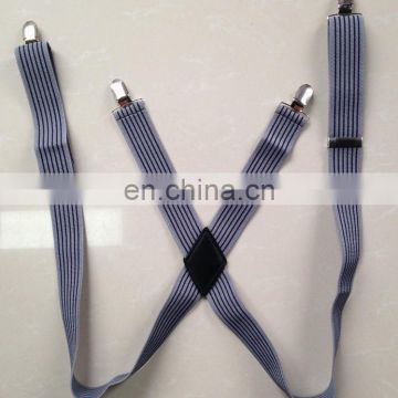 Alibaba Supplier Classic X Design Stripe Suspenders