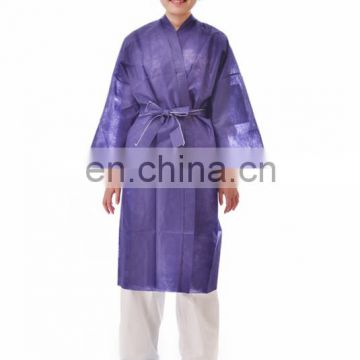 Disposable soft non-woven salon kimono factory white