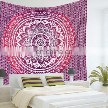 Pink Twin OMBRE Tapestry Indian Mandala Tapestry Hippie Beach Throw Bohemian Decor Blanket Mandala Tapestries wall decorative