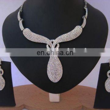 INDIAN DESIGNER AMERICAN DIAMOND ZIRCONIC JEWELRY SET